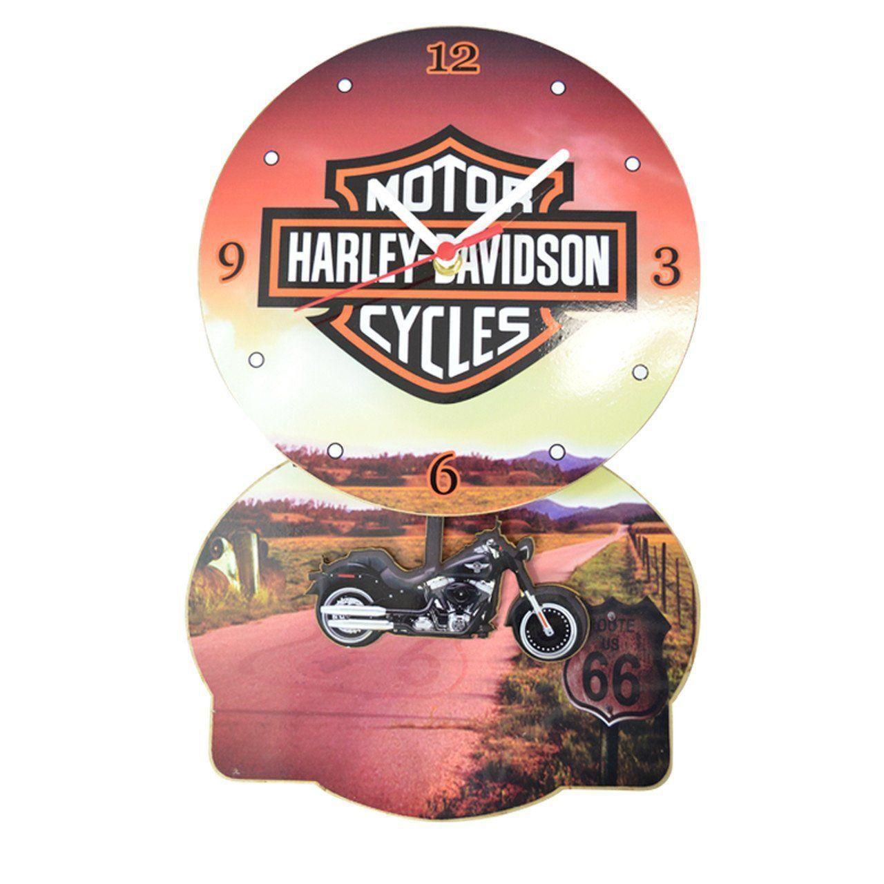 Relógio de Parede com Pêndulo Harley Davidson