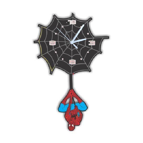 Relógio de Parede com Pêndulo Homem-Aranha (SpiderMan)