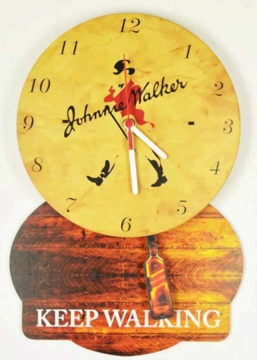 Relógio de Parede com Pêndulo Johnnie Walker