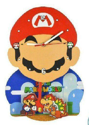 Relógio de Parede com Pêndulo Mario: Super Mario World