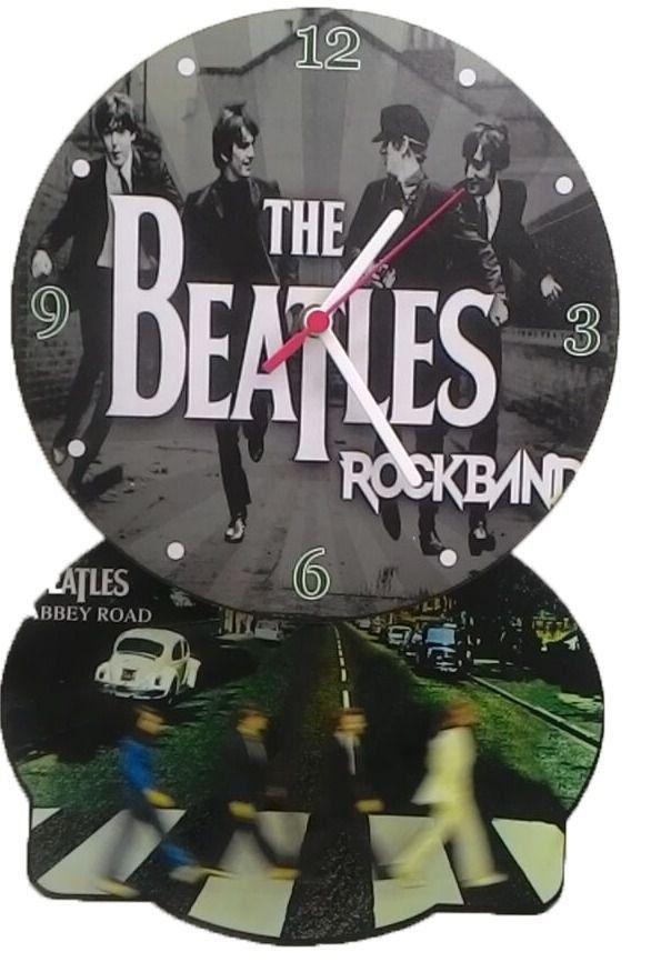 Relógio de Parede com Pêndulo The Beatles