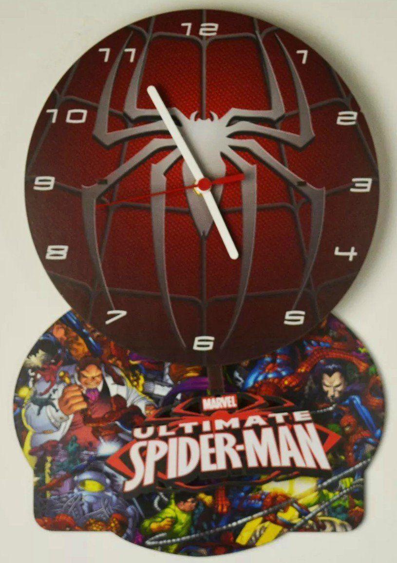 Relógio de Parede com Pêndulo Ultimate Homem Aranha (Ultimate Spider-Man)