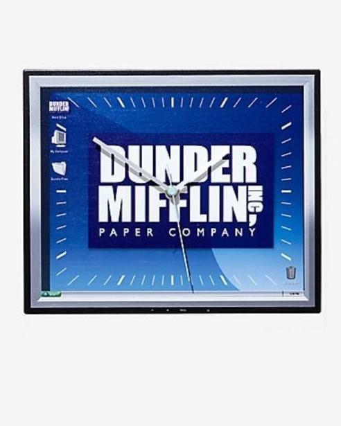 Relógio de Parede: '' Dunder Mifflin Inc Paper Company '' ( The Office )