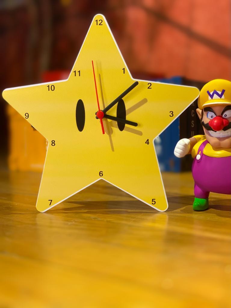 Relógio de Parede Estrela: Super Mario Bros.