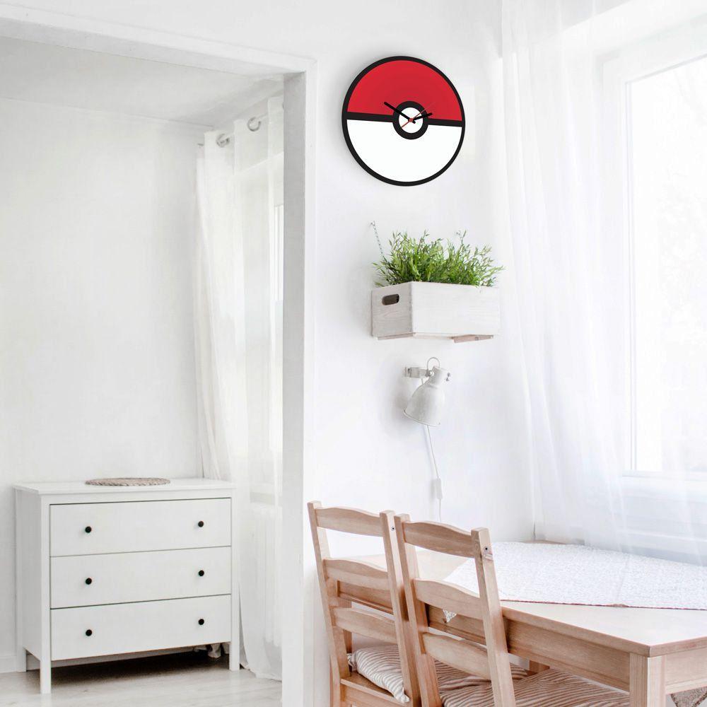 Relógio de Parede Pokebola: Pokémon