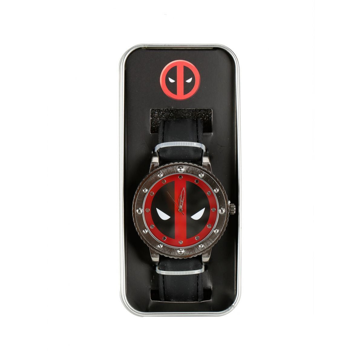 Relógio de Pulso Deadpool Mask Cromado - Accutime