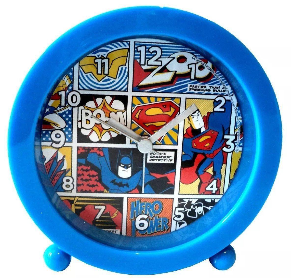 Relógio Despertador Super Friends: DC Comics (Azul)