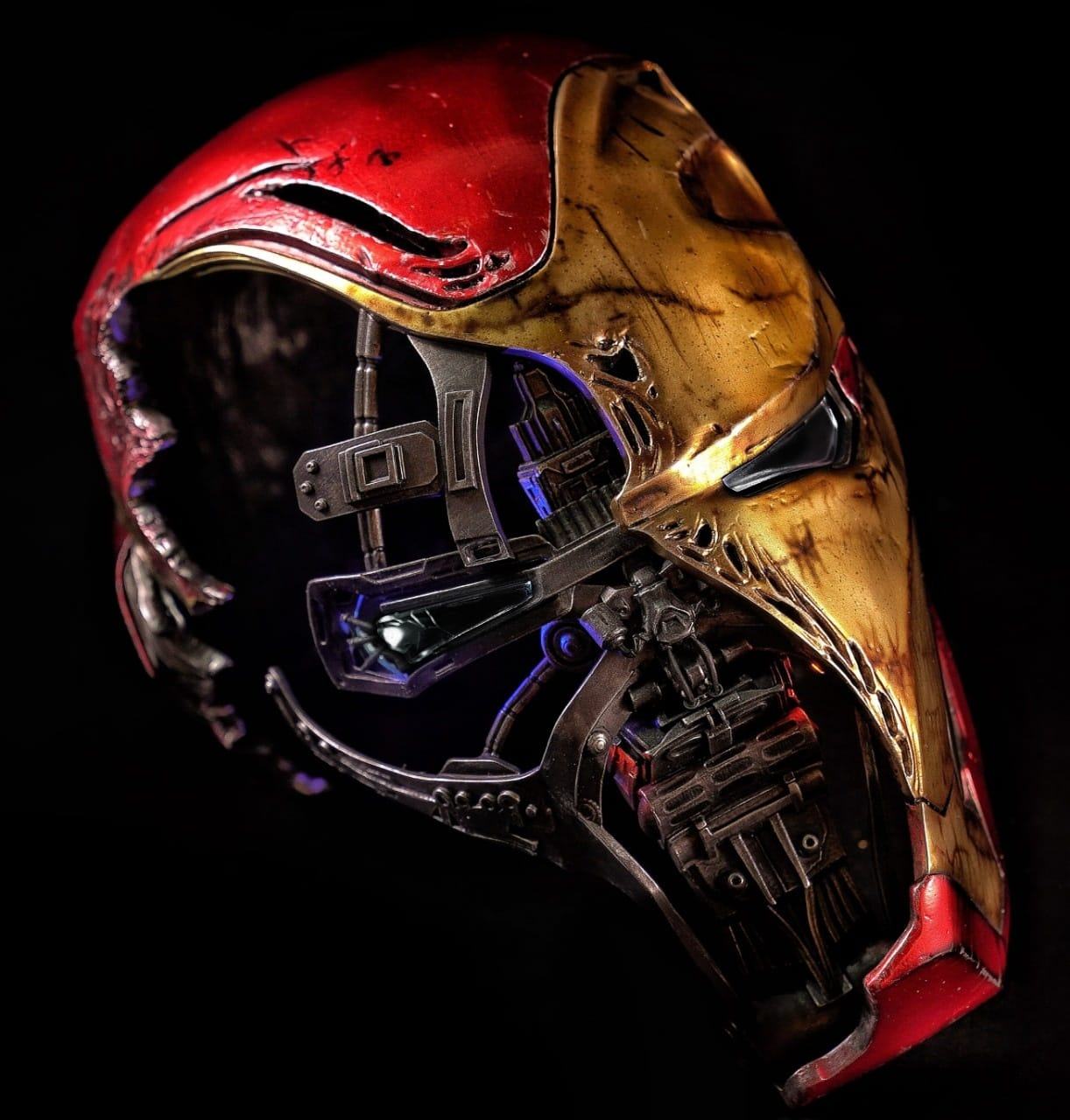 Réplica Capacete Decorativo Homem de Ferro (Iron Man Mark L Battle Damaged): Vingadores Ultimato (Avengers Endgame) Escala 1/1 - (Apenas Venda Online)