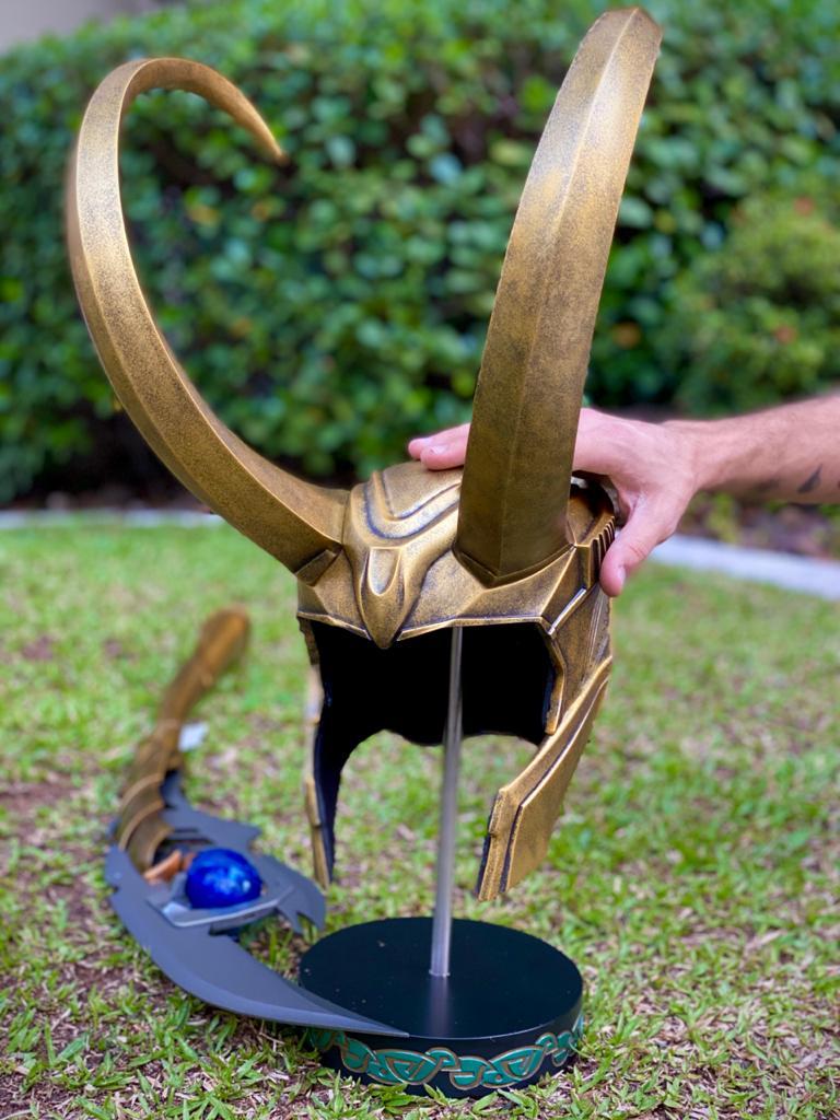 Réplica Capacete Loki (Escala 1/1) - Taurus Studio