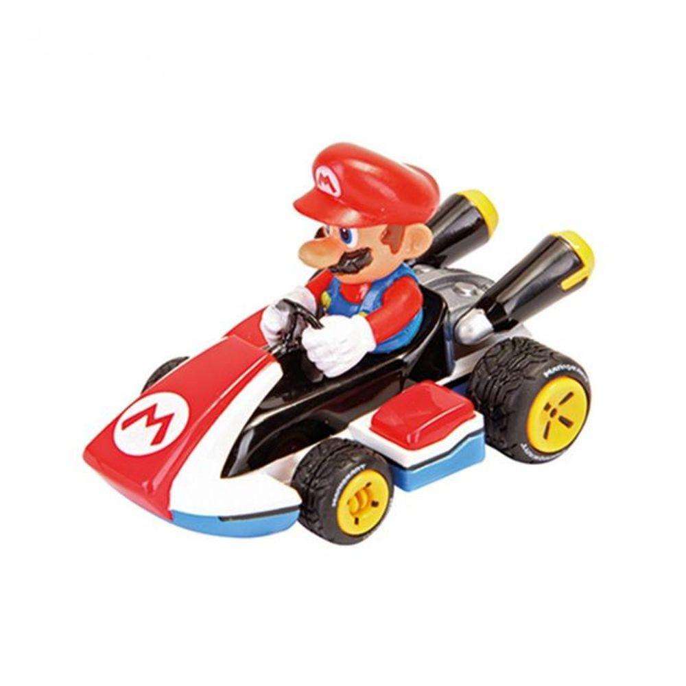 Réplica Carrinho de Fricção Pull Back Action Mario: Mariokart Pull Speed Escala 1/43 17316 Nintendo - Carrera Play