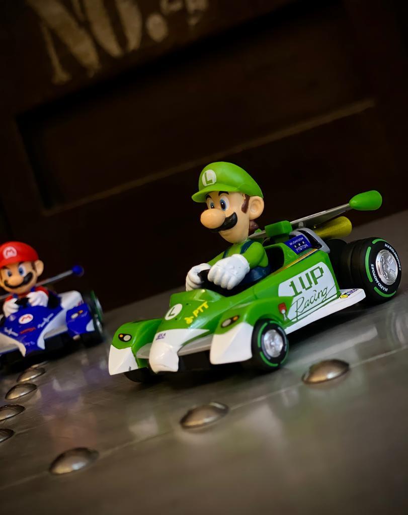 Réplica Carrinho de Fricção Pull & Speed Luigi: Mariokart 17320 Kart Circuit Special - Nintendo Wii - EV