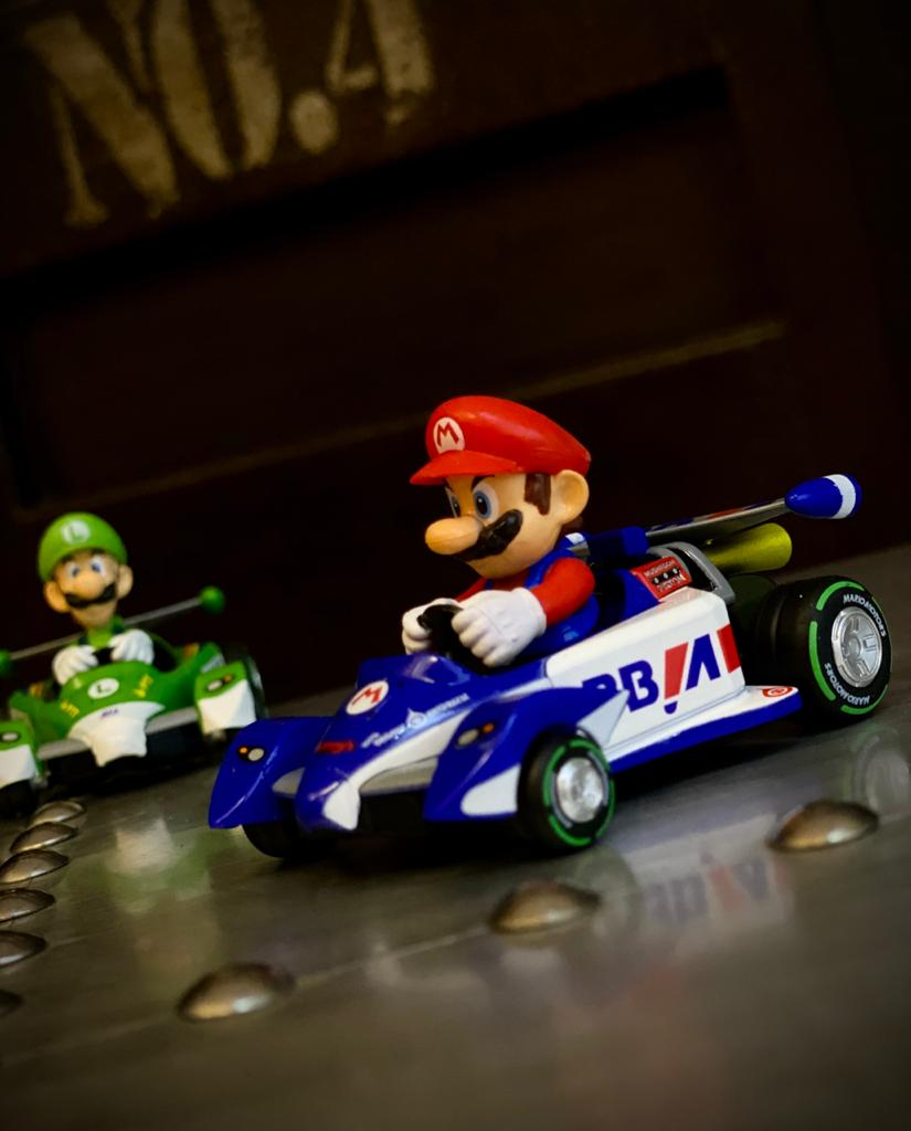 Réplica Carrinho de Fricção Pull & Speed Mario: Mariokart 17315 Kart Circuit Special - Nintendo Wii - EV