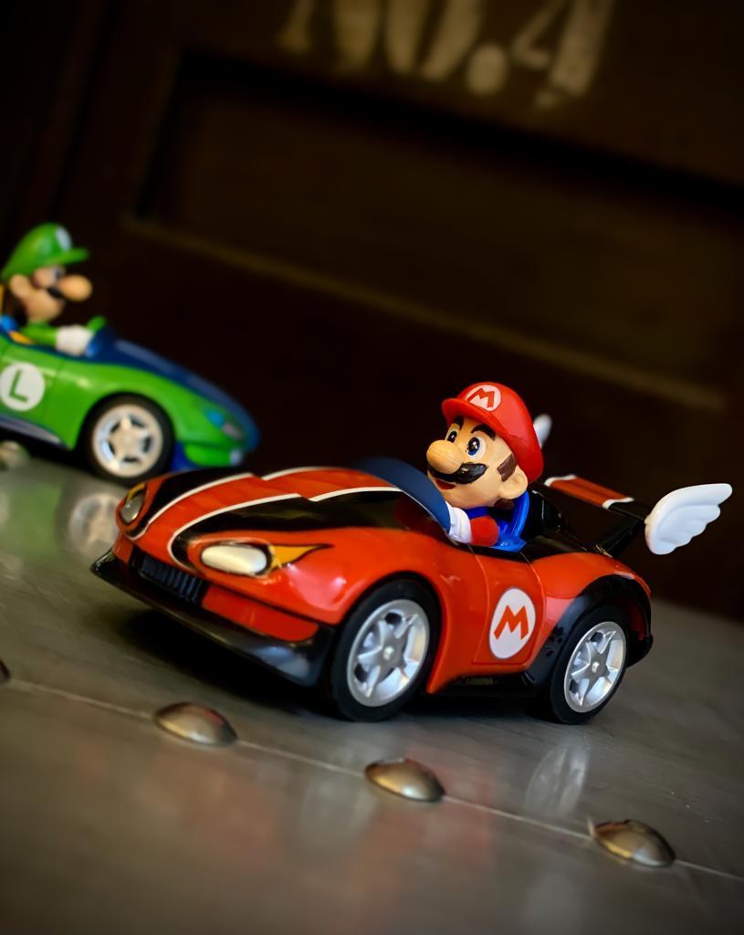 Réplica Carrinho de Fricção Pull & Speed Mario: Mariokart 19304 Wild Wing - Nintendo Wii - EV
