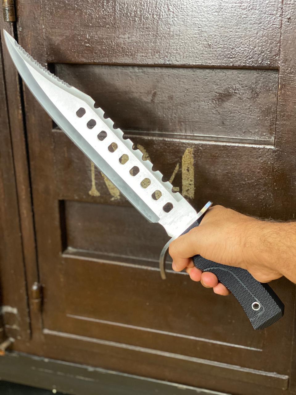 Réplica em Metal Faca Rambo de Caça