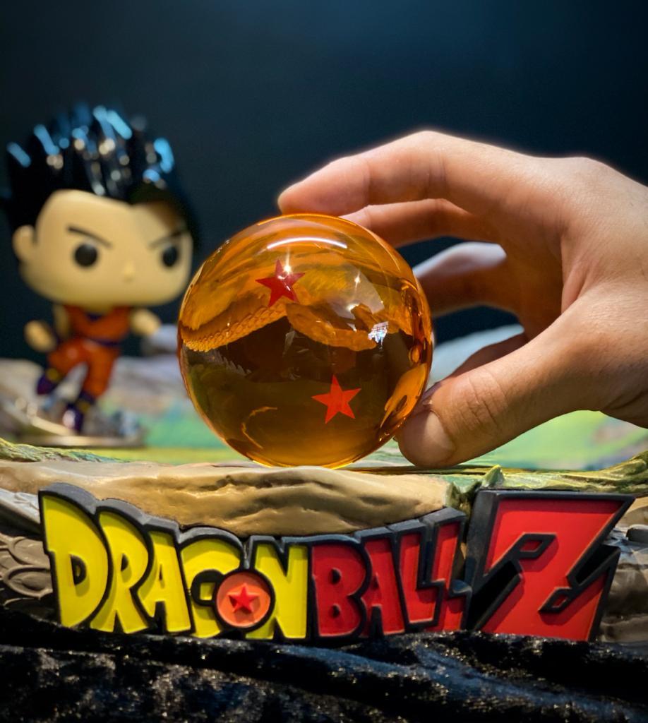 Réplica Esfera do Dragão de 2 (Duas) Estrelas: Dragon Ball Z - Grande (7,5 cm)
