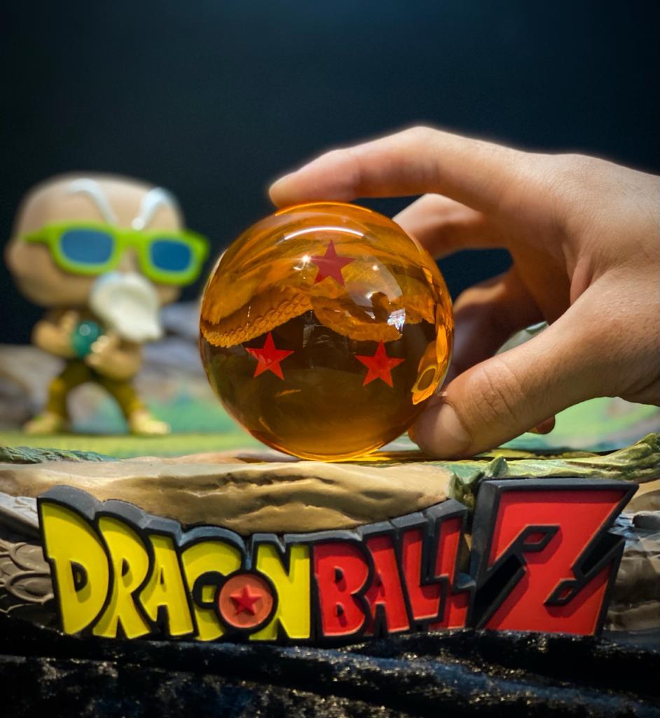 Réplica Esfera do Dragão de 3 (Três) Estrelas: Dragon Ball Z - Grande (7,5 cm)