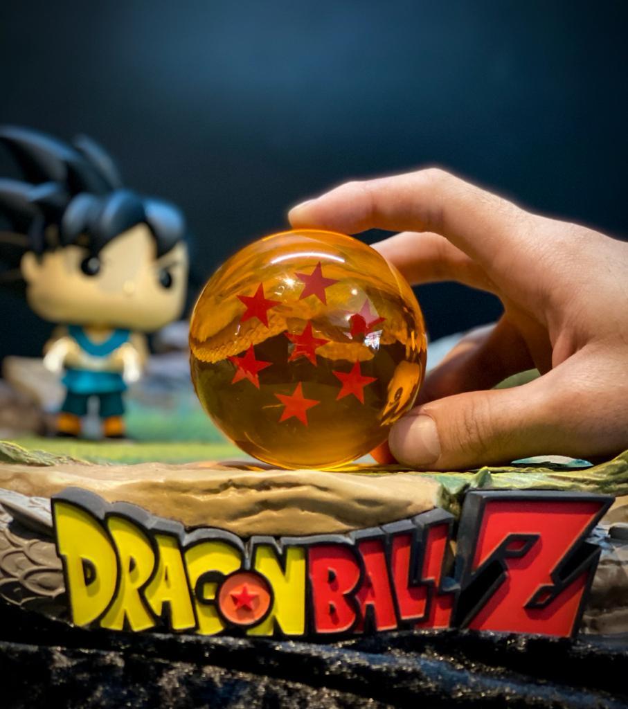 Réplica Esfera do Dragão de 7 (Sete) Estrelas: Dragon Ball Z - Grande (7,5 cm)