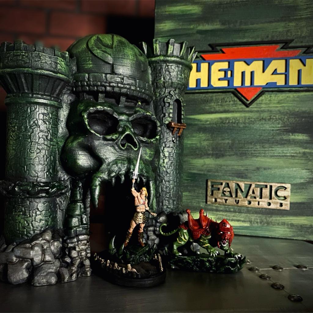 Réplica Estátua He-Man e Gato Guerreiro: Mestres do Universo Masters Of  The Universe Castelo de Grayskull Castle Of Grayskull Escala 1/9 -  Fanatic Studios