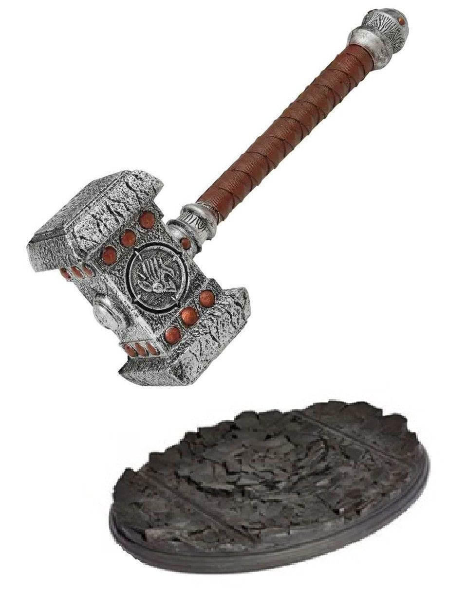 Réplica Martelo Com Base Orgrim Doomhammer: Warcraft