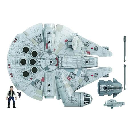 Réplica Miniatura Millennium Falcon Han Solo: Guerra nas Estrelas Star Wars Mission Fleet - Hasbro