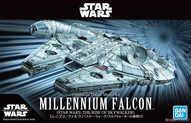 Réplica Modelo Colecionável Millennium Falcon Escala 1/144 Star Wars The Rise Of Skywalker A Ascensão Skywalker - Bandai - EV