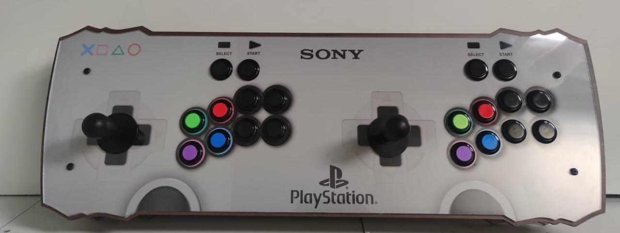 """Retrô Box Fliperama Arcade """"Controle Playstation"""" (Mais de 20.000 Jogos)PlayStation 1/Nintendo/Super Nintendo - EV"""