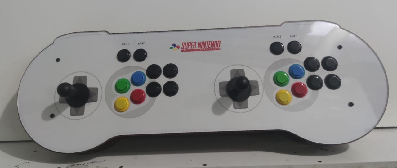 """Retrô Box Fliperama Arcade """"Controle Super Nintendo"""" (Mais de 20.000 Jogos)PlayStation 1/Nintendo/Super Nintendo"""