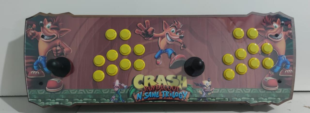 """Retrô Box Fliperama Arcade """"Crash Bandicoot N. Sane Trilogy"""" (Mais de 20.000 Jogos)PlayStation 1/Nintendo/Super Nintendo"""