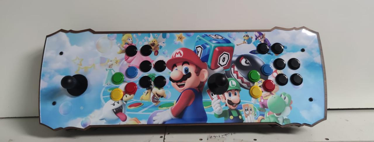 "Retrô Box Fliperama Arcade ""Mario Party"" (Mais de 20.000 Jogos)PlayStation 1/Nintendo/Super Nintendo"