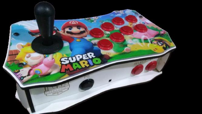 "Retrô Box Fliperama Arcade ""Mario + Rabbids"" (Mais de 20.000 Jogos)PlayStation 1/Nintendo/Super Nintendo/Mega Drive"
