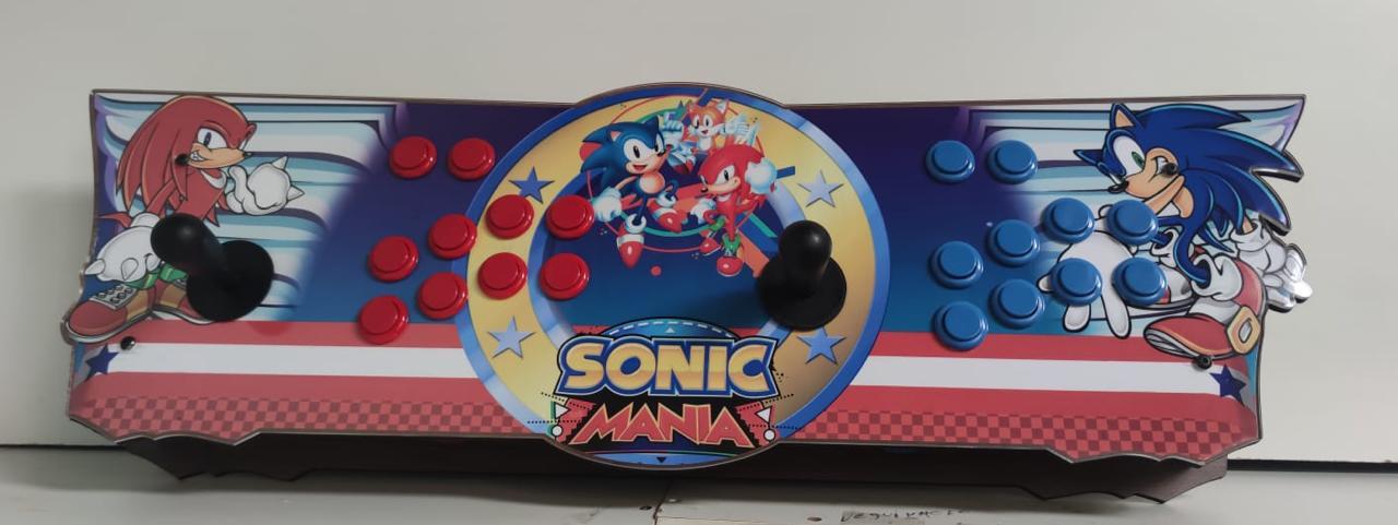 """Retrô Box Fliperama Arcade """"Sonic Mania"""" (Mais de 20.000 Jogos)PlayStation 1/Nintendo/Super Nintendo"""