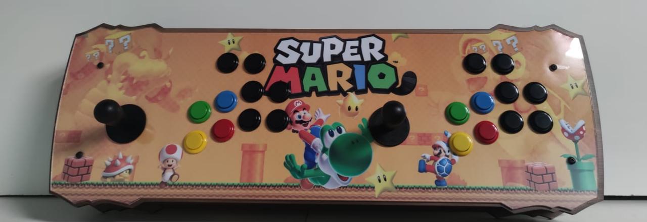 """Retrô Box Fliperama Arcade """"Super Mario"""" (Mais de 20.000 Jogos)PlayStation 1/Nintendo/Super Nintendo"""