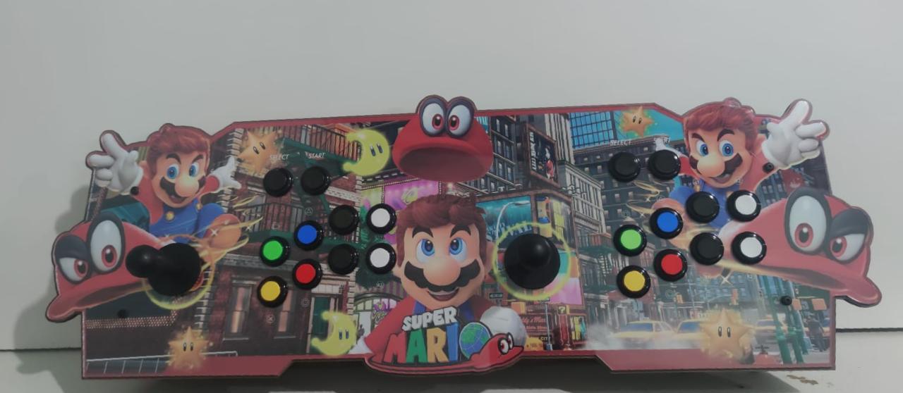 """Retrô Box Fliperama Arcade """"Super Mario Odyssey"""" (Mais de 20.000 Jogos)PlayStation 1/Nintendo/Super Nintendo"""