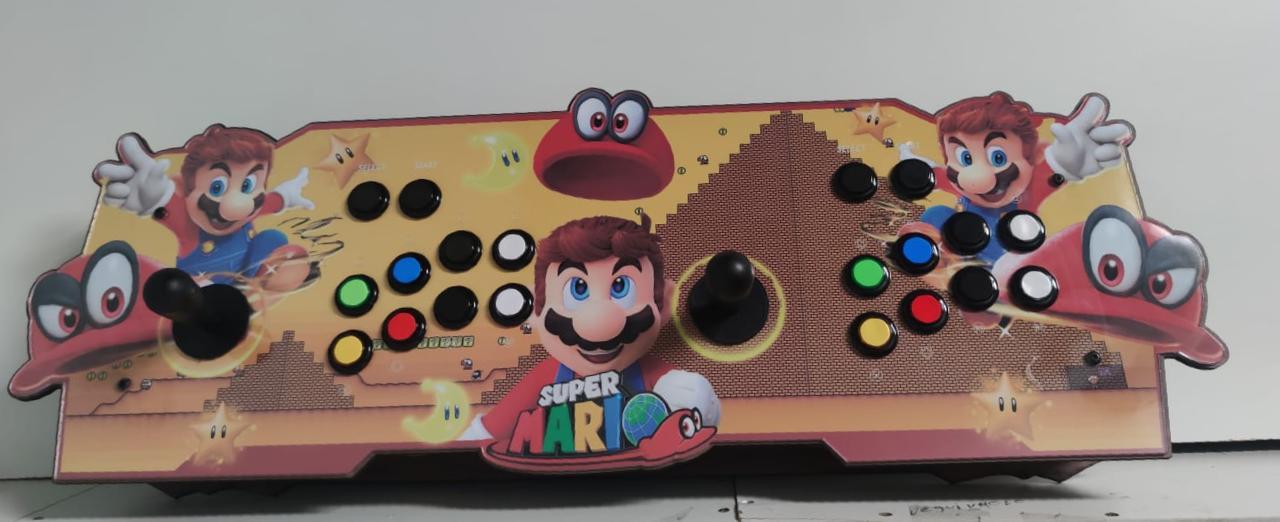 """Retrô Box Fliperama Arcade """"Super Mario Odyssey Sand Kingdo"""" (Mais de 20.000 Jogos)PlayStation 1/Nintendo/Super Nintendo"""
