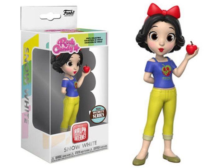 Funko Rock Candy Branca De Neve (Snow White): WiFi Ralph: Quebrando a Internet (Disney) - Funko