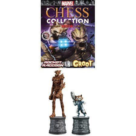 Rocket Raccoon & Groot  Marvel Chess - Eaglemoss