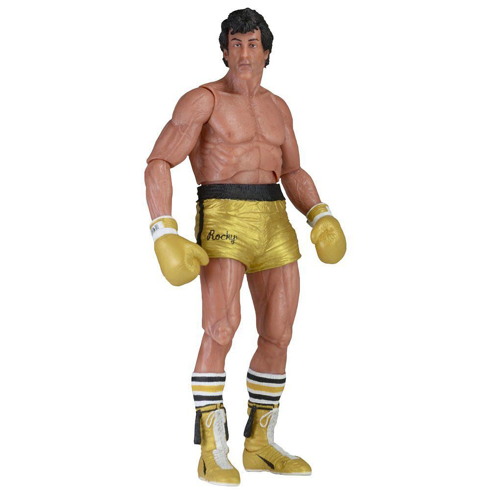 Rocky III 40th Anniversary series 1 Short Dourado Escala 1/10 - Neca