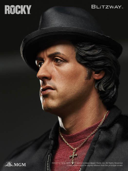 Estátua Rocky II 1979 Sylvester Stallone Escala 1/4 - Blitzway