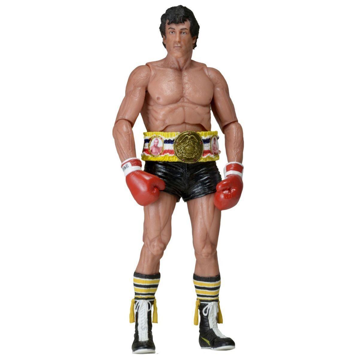 Boneco Rocky III 40th Anniversary series 1 Short Preto - Neca
