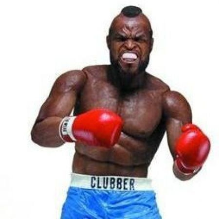 Rocky III 40th Anniversary series 1: Clubber Lang Short Azul Escala 1/10 - Neca