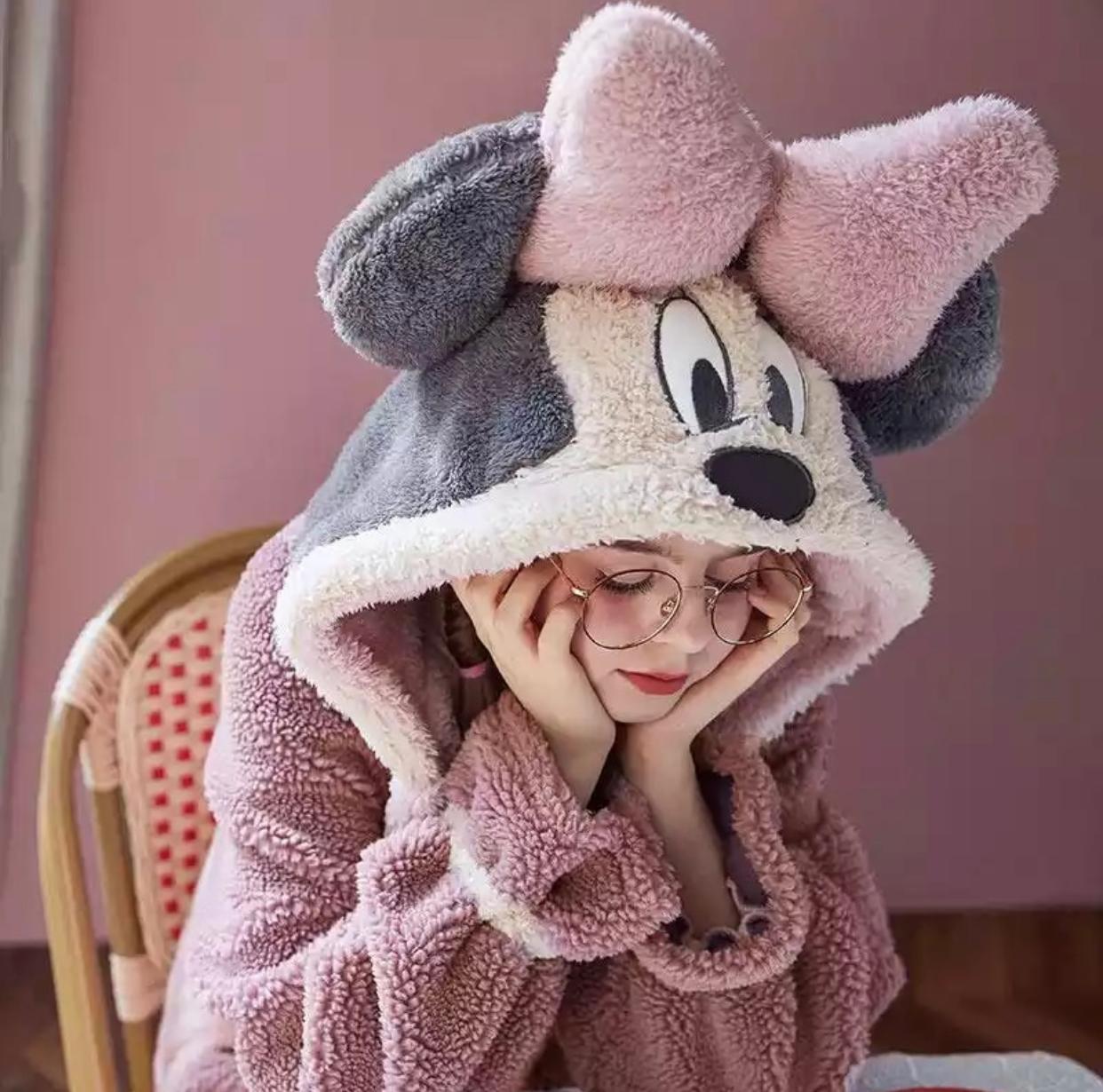 Roupão Hobby Plush Aveludado Minnie Tamanho ÚNICO Minnie Mickey - EV