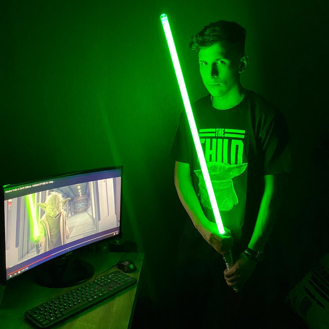 Sabre de Luz Luke Skywalker Force FX Lightsaber (Green): Star Wars The Black Series - Hasbro