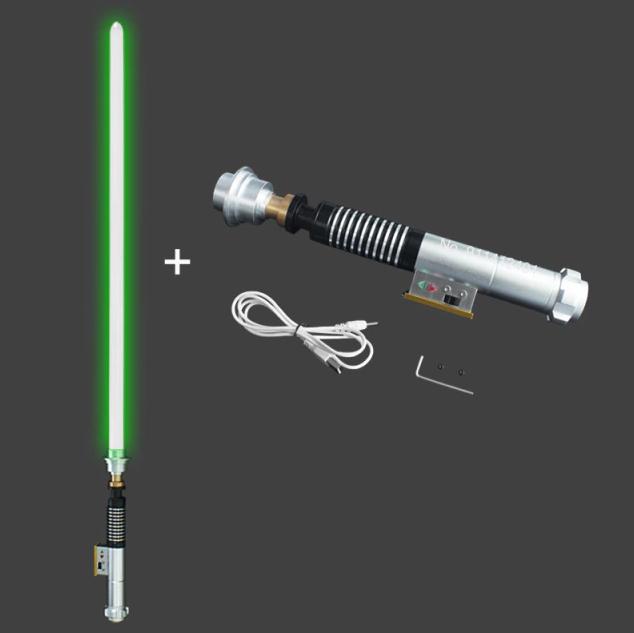Sabre de Luz Luke Skywalker Mestre Yoda (Verde): Star Wars com Caixa de Controle- MKP