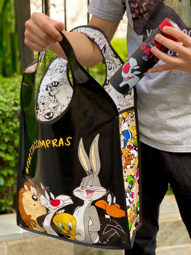 Bolsa/Sacola PP Looney Tunes (Preto) - Urban