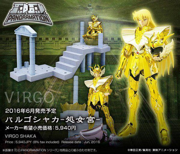 Boneco Shaka de Virgem: (Os Cavaleiros do Zodíaco) Saint Seiya DD Panoramation - Bandai