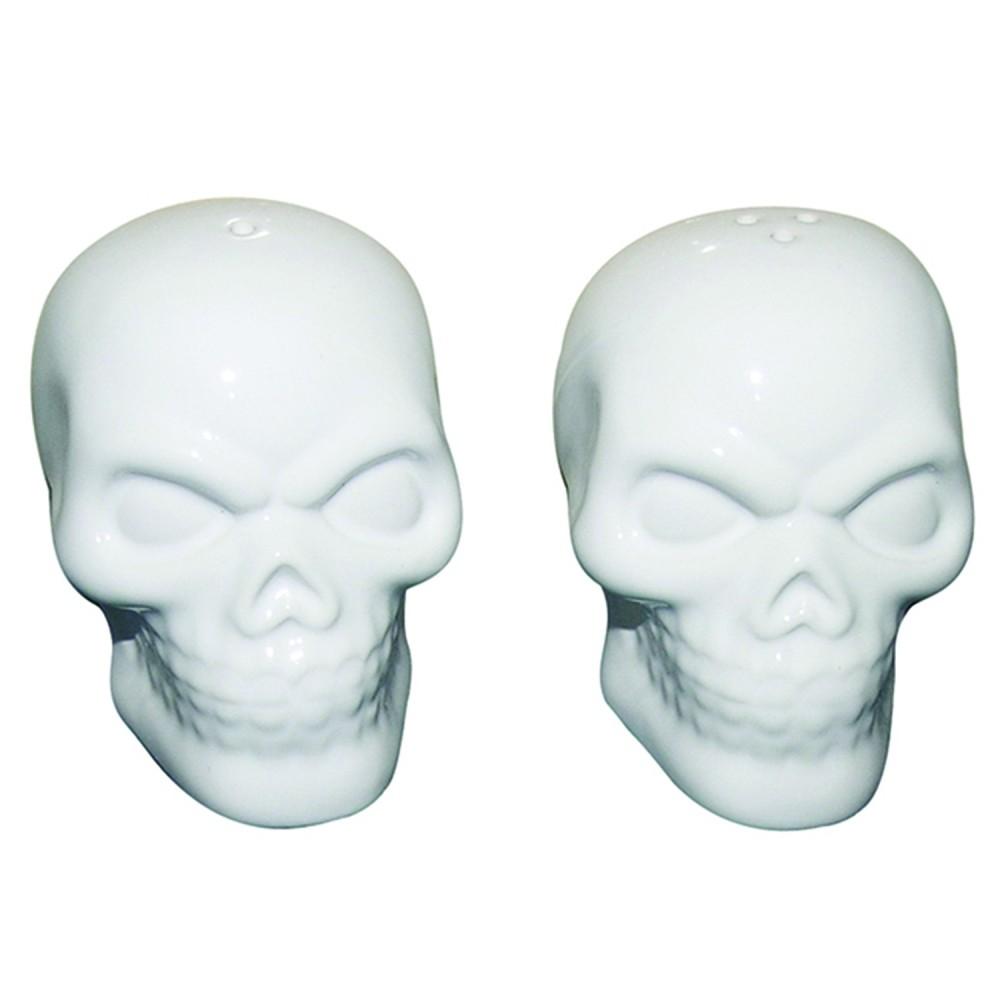 Saleiro e Pimenteiro Cerâmica Skulls Branco Set com 2 pçs - Urban