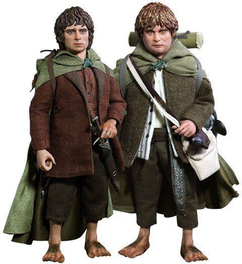 PRÉ VENDA : Senhor dos Aneis Set Frodo & Sam Escala 1/6 - Asmus Toys