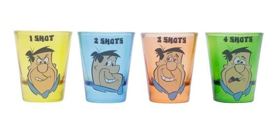 Set 4 Copos Dose Shot: Flintstones - Urban