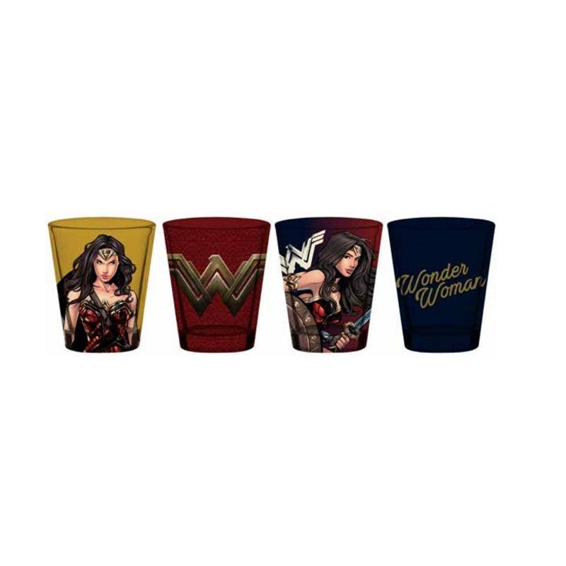 Set 4 Copos Dose Mulher-Maravilha (Wonder Woman): DC (50ML) - URBAN