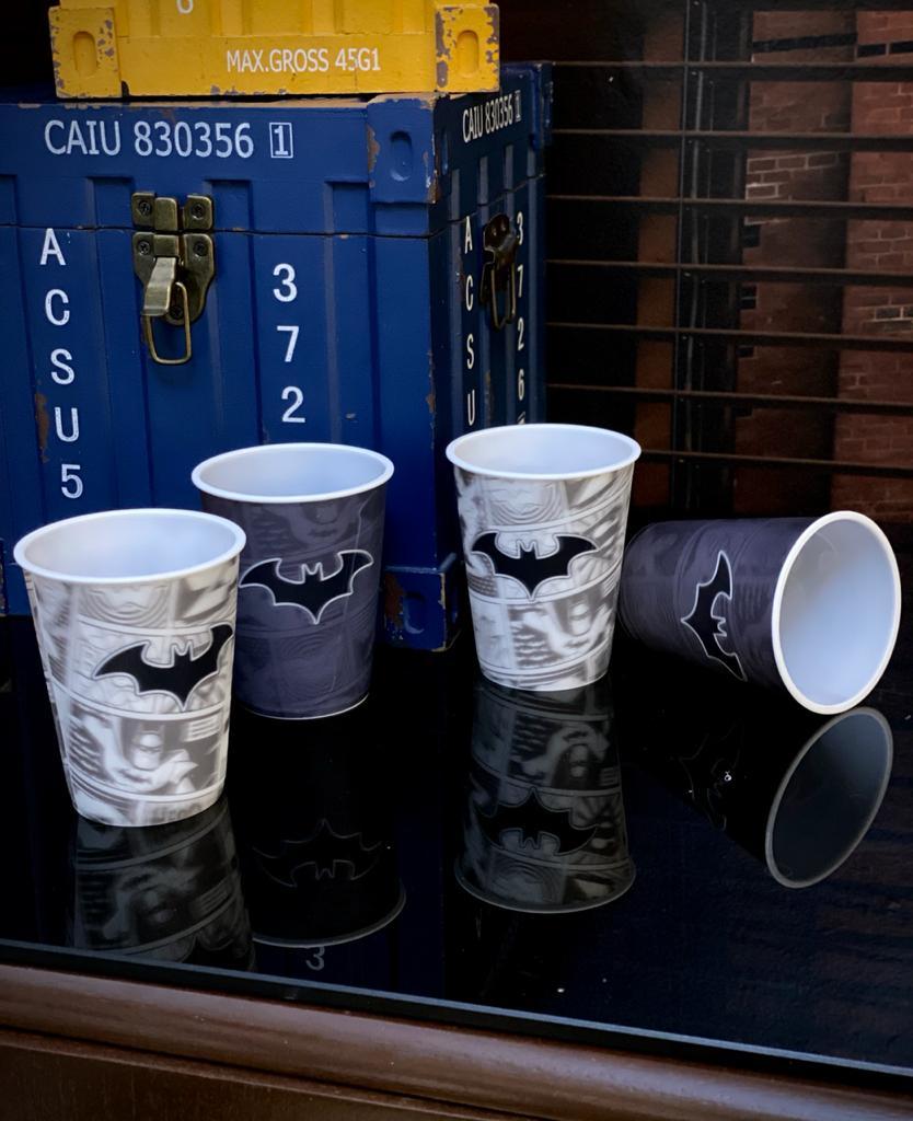 Set 4 Peças Copos 3D: Batman Dc Comics - 400ml